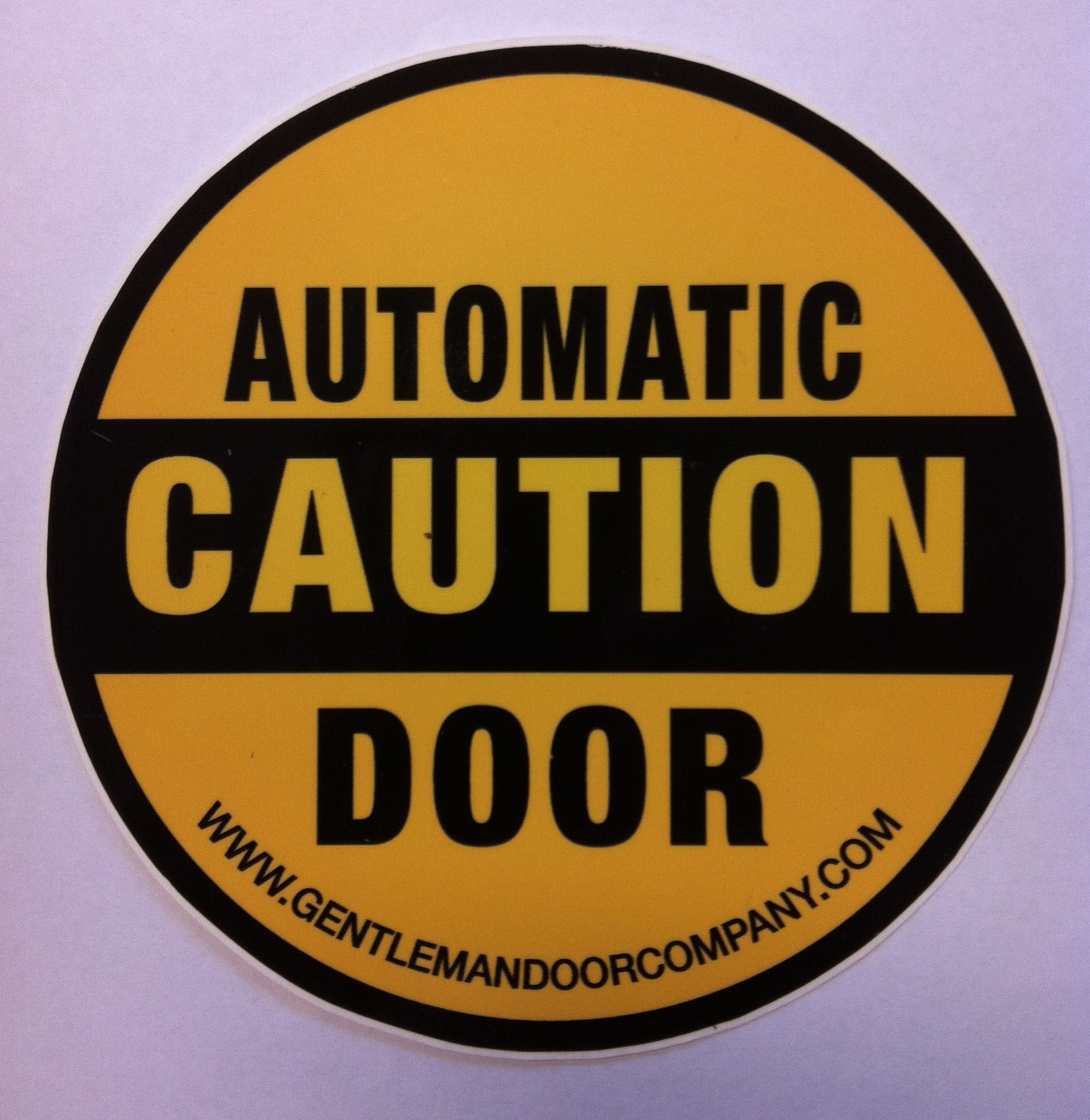 Caution automatic door decal